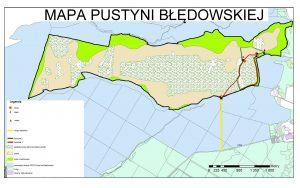 Карта Блендовської пустелі в Польщі