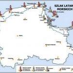 Маяки на карті Польщі