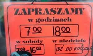Закон про заборону торгівлі в неділю у Польщі набуває чинності