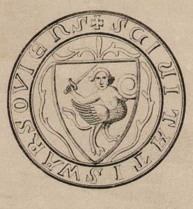 Варшавська сирена, зображення XV ст. на карті XIX ст.